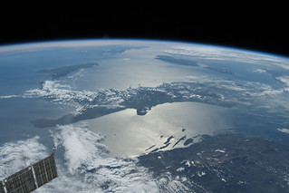 Southeastern Europe, Italy and into the Mediterranean Sea | by NASA Johnson