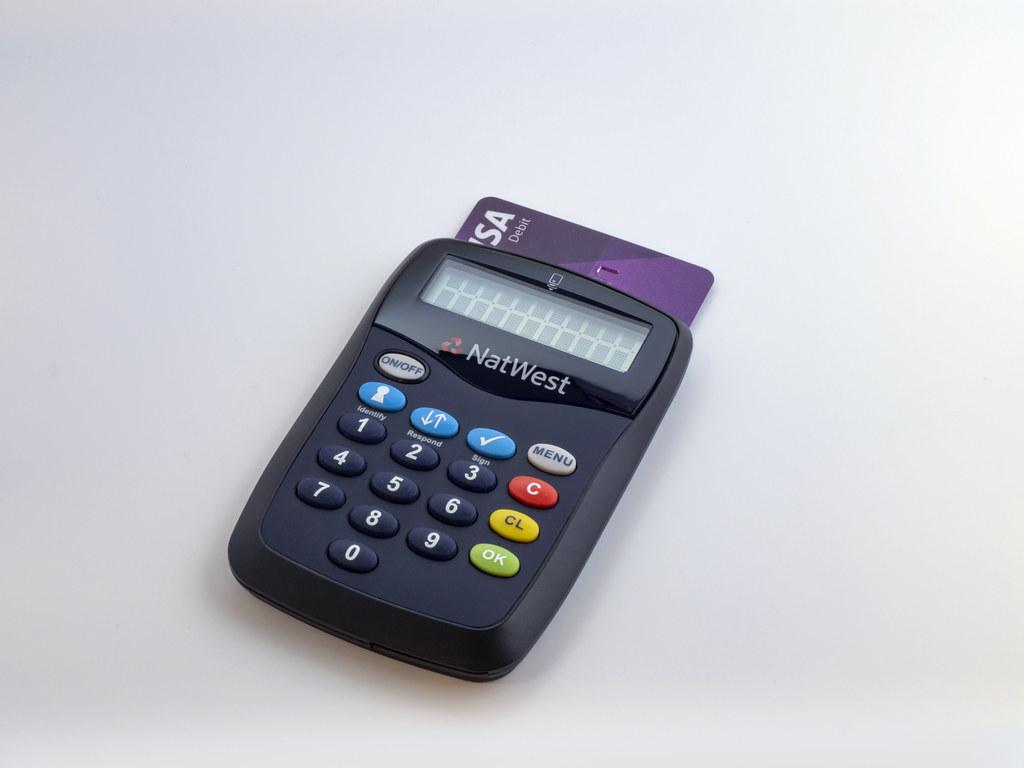 Natwest Card Reader With Debit Card Inserted Brett Jordan Flickr