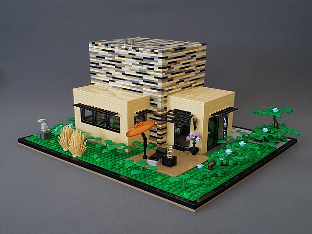 Vanilla House MOC wooden deck