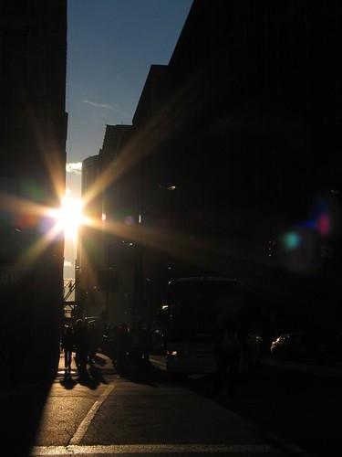 Sun in Silhouette Street