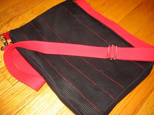 red strap bag