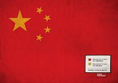 China: Rojo, menores de 14 años que trabajan. Amarillo, menores de 14 años que estudian.