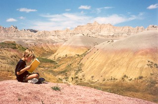 Sam Reading in Badlands | by CaptPiper