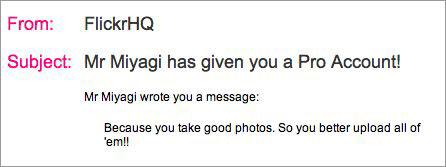 flickr pro gift