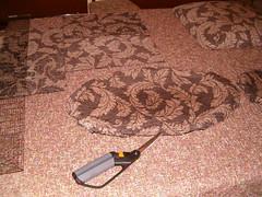 cutting the chair fabric.JPG