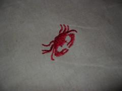 Crab fabric close