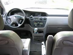 driver's seat in a Honda Odyssey minivan