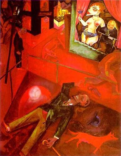 George Grosz, Suicide, 1916