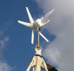Wind generator running