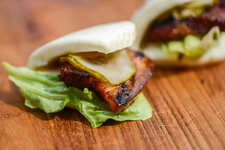 Sous Vide and Grilled Pork Belly Buns