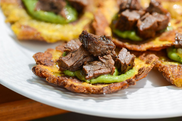 Tostones with Skirt Steak