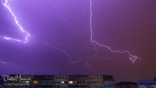 Thunderstorm in Bucharest by Daniel Mihai