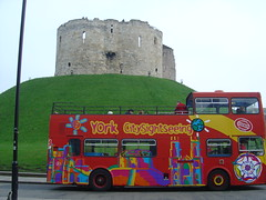 Clifford's Tower and a Bus