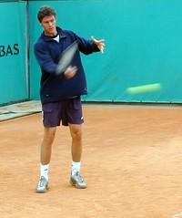 Marat Safin fotografert i French Open 2001
