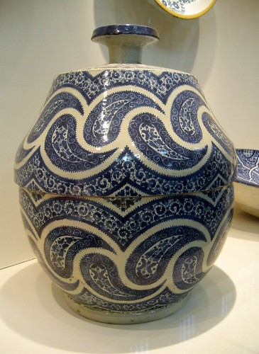 morocco marokko ceramics tureen blue