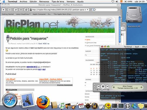 Copia de pantalla de RicPlan bajo Mac ;-)