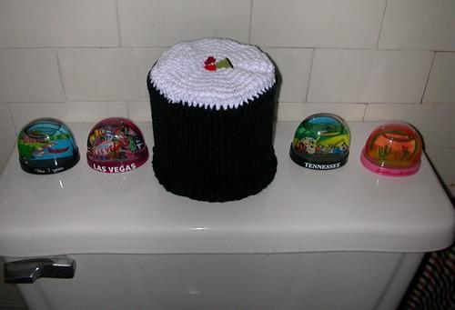 sushi toilet paper cozy