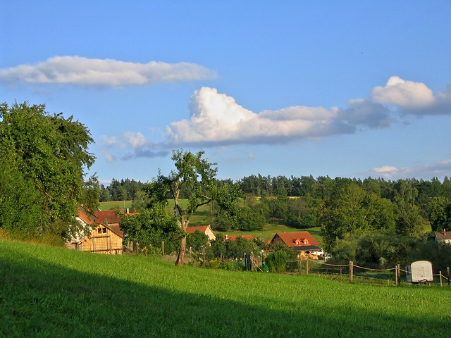 Peaceful village in the late afternoon