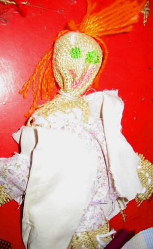 Burlap rag doll