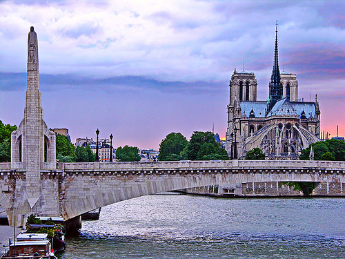 Pont De La Tournelle And Notre Dame Cathedral Paris Flickr