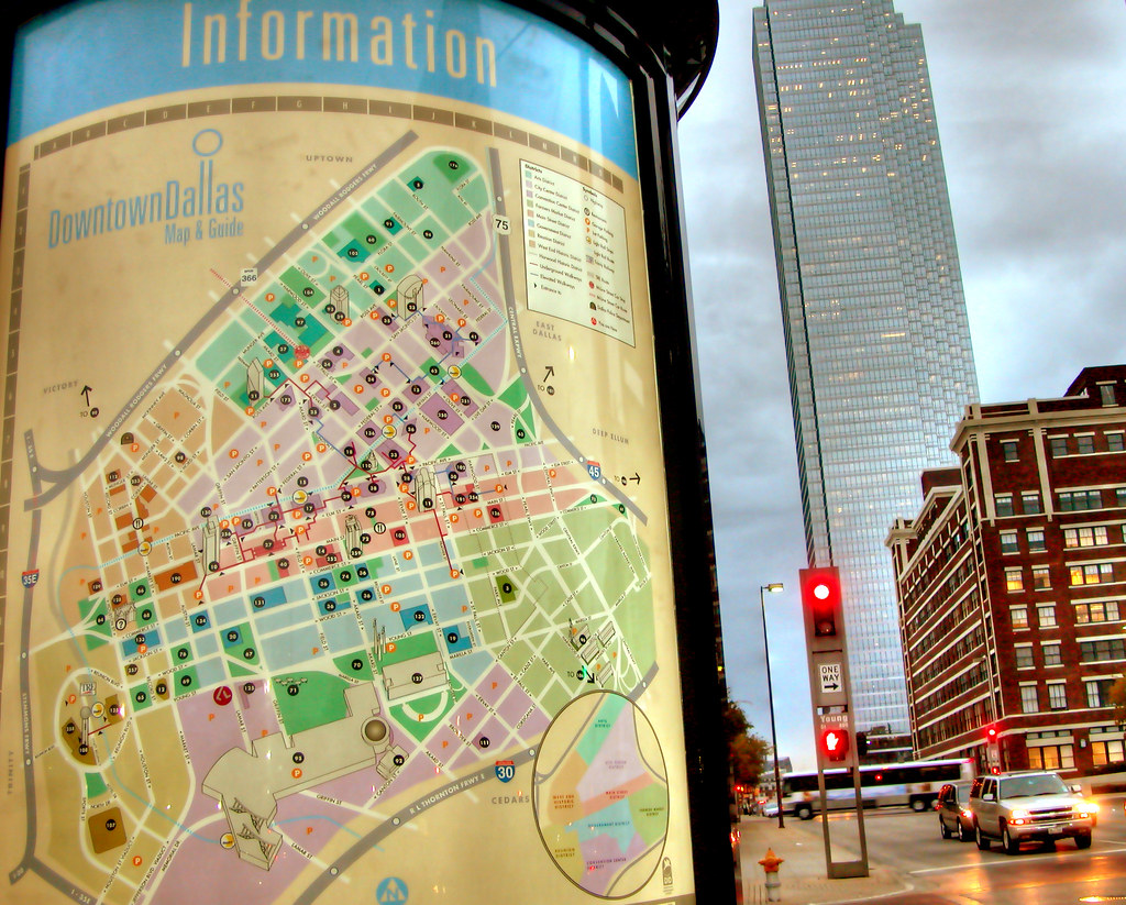 Dallas Kiosk Downtown Map Bank of America Tower Skyser…   Flickr on