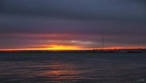 sunset sky water river hdr ukraine