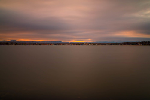 sunset evening dusk sundown sky clouds le longexposure landscape sloanslake denver colorado