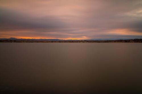sunset evening dusk sundown sky clouds le longexposure landscape sloanslake denver colorado landscapes