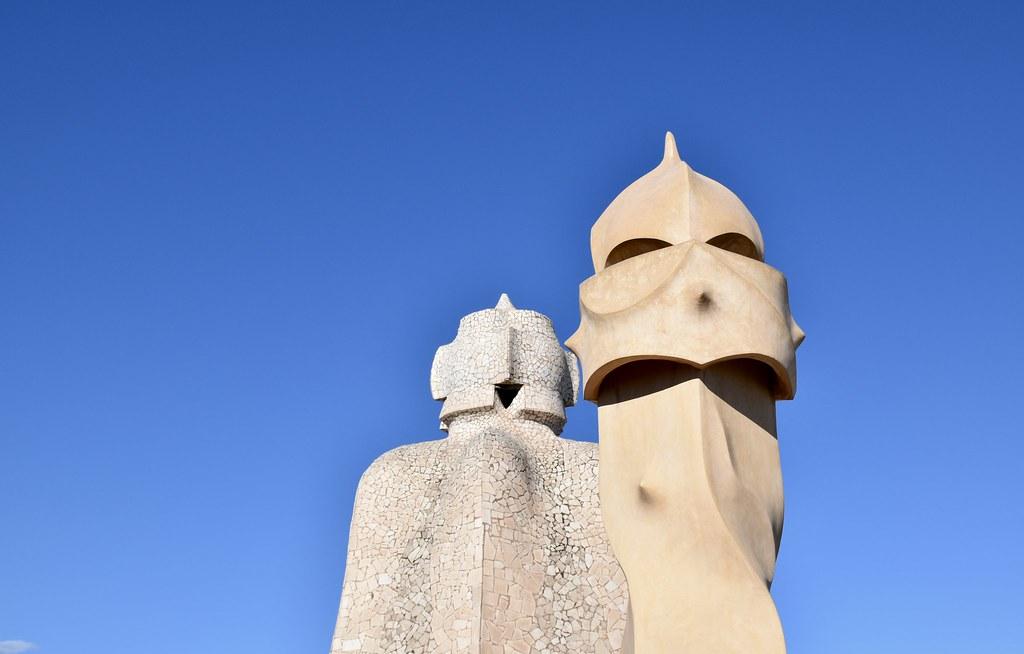 La Pedrera Gaudí Barcelona Rooftop Sculptures Silvia