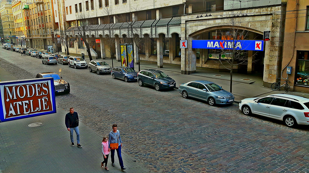 Maxima store on Gertrudes Street in central Riga, Latvia