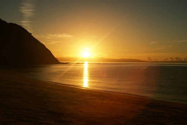 Shining sunset in New Zealand ✨☀️🙏