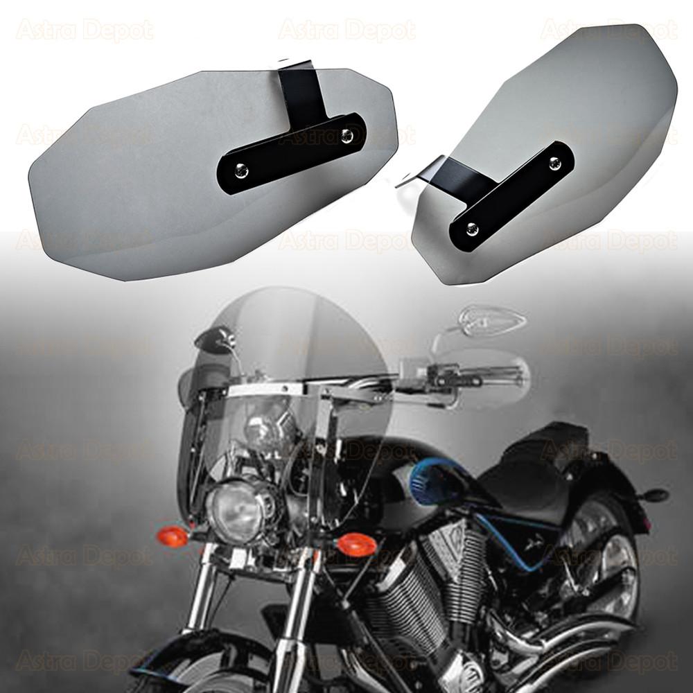 Normal, Smoke 1-Pair Motorcycle Hand Guards Handguard Windshield Deflectors Wind Protector