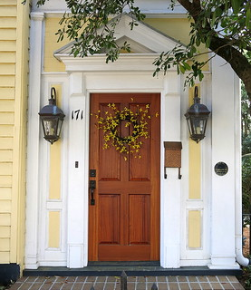 Easter wreath, 117 Broad Street (1870), Charleston, SC   by Spencer Means