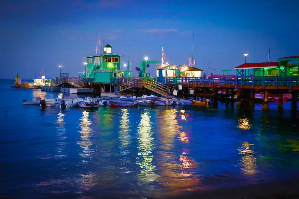 Santa Catalina Island Pier - Textured