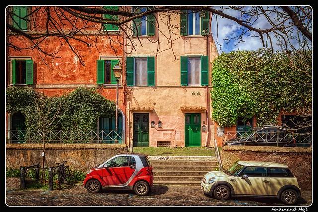 Roma_Trastevere_spring on Via Garibaldi