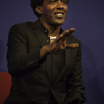 Lemn Sissay   Sissay glides between the political and personal as he shares poems from Gold from the Stone © Robin Mair