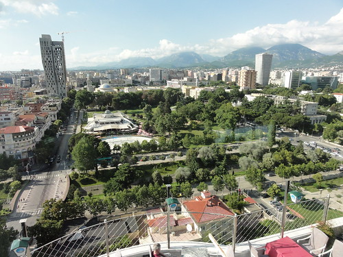 albania albanian europe european park tirana capital city view restaurant bar revolvingrestaurant revolving
