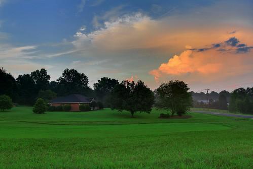 sunset sky storm green home clouds farm hurricane country north northcarolina carolina irene hurricaneirene