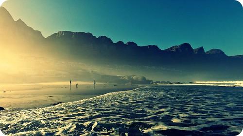 ocean light sea beach nature sunshine sunrise holidays capetown flare