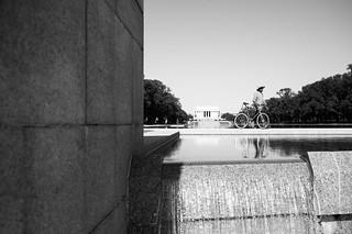 Cyclist, National Mall.   by Matt Benton