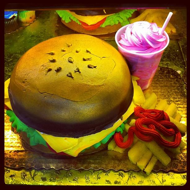 Fine Hamburger Birthday Cake Heb Marissa Jarratt Flickr Personalised Birthday Cards Cominlily Jamesorg