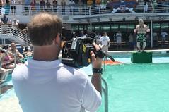 Equip de filmació del barco