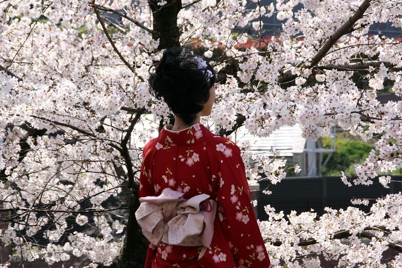 Kyoto 2012-Kimonos-près de la gare Keage