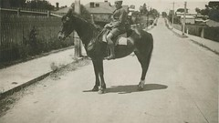 Daly Street, with Dudley Kemp on horse c1937