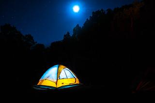 Camping by moonlight   by amalakar