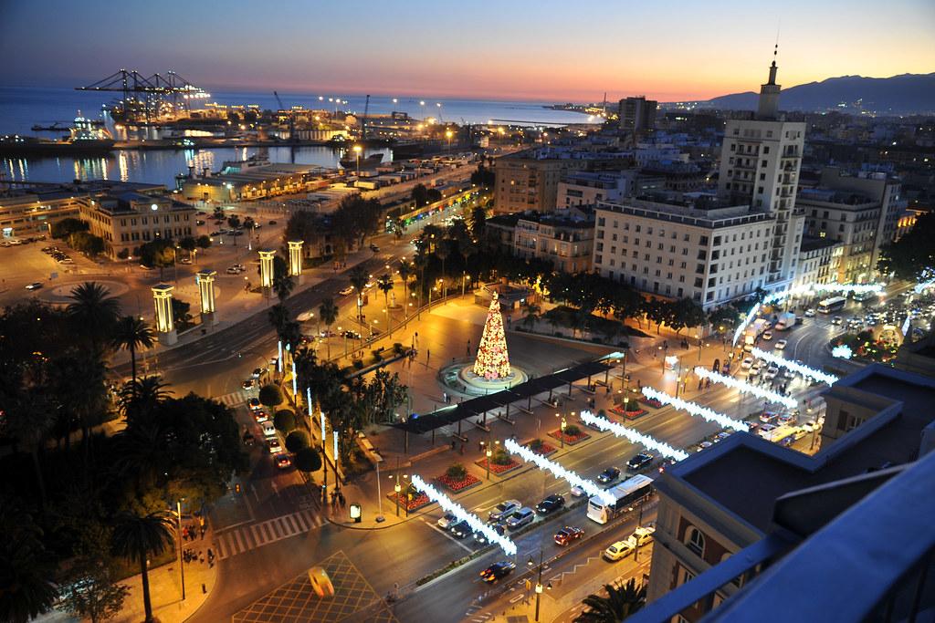 Vista Desde La Terraza De Ac Hotel Málaga Palacio Ac