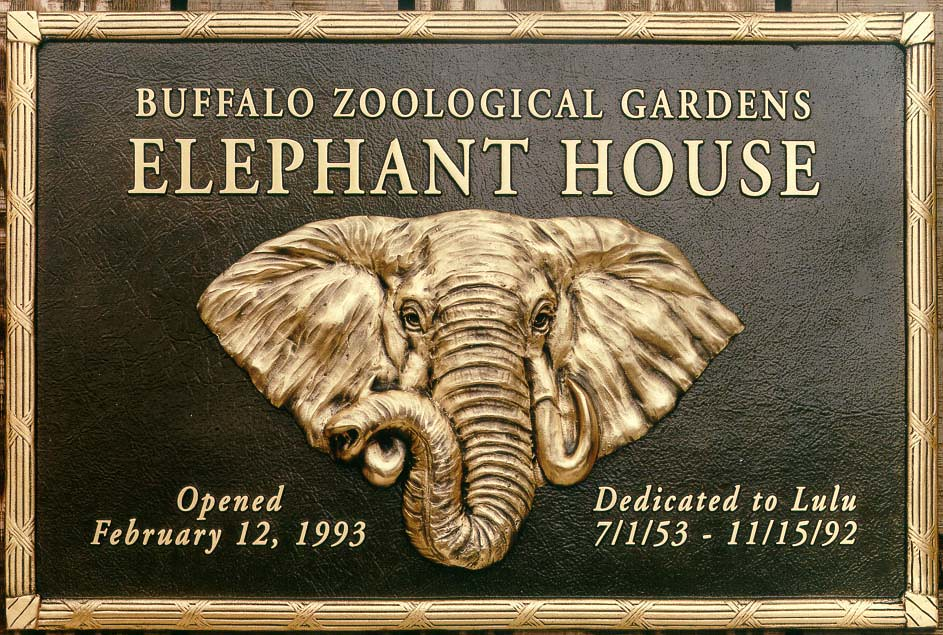 Cast Bronze Identification Plaque With Modeled Bas Relief Flickr