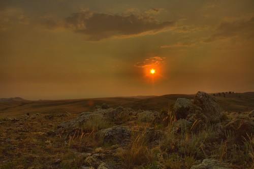 sunset landscape wyoming hdr