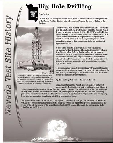 Big hole drilling