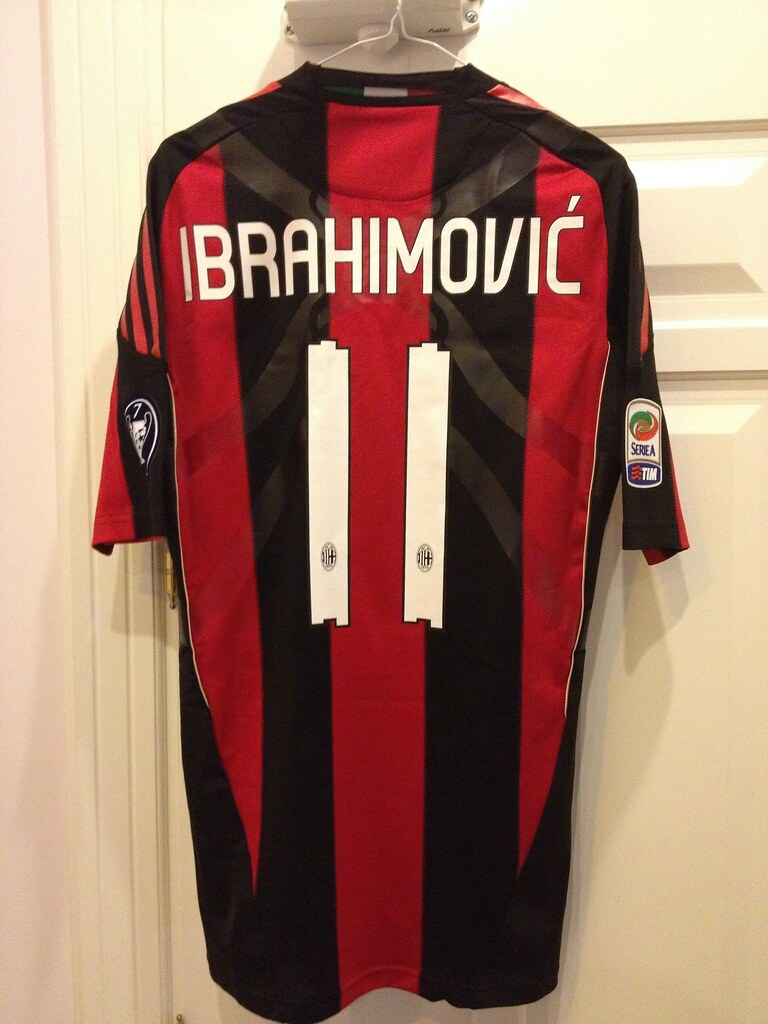 newest 3c232 c3970 Ac Milan ibrahimovic player issue Techfit 10-11 shirt | Flickr